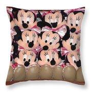 Minnie Mouse On A Shelf 2 Throw Pillow