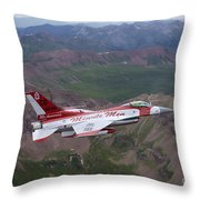 Minute Men Paint Scheme On An F-16 Throw Pillow