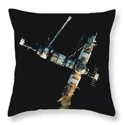 Mir Space Station Throw Pillow
