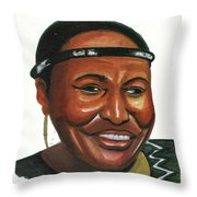 Miriam Makeba Throw Pillow