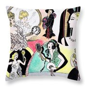 Mirror Ladies Throw Pillow