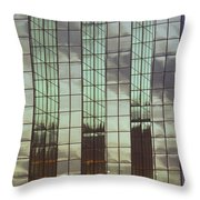 Mirrored Building Throw Pillow