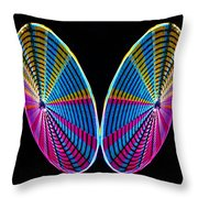 Mirrored Wheel Throw Pillow