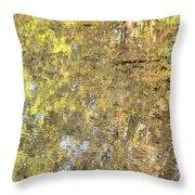 Mirroring Autumn Throw Pillow