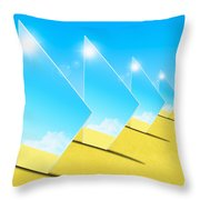 Mirrors On Sand In Blue Sky Throw Pillow