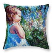 Miss Busy Bee Throw Pillow
