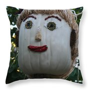 Miss Julia Scarecrow Throw Pillow