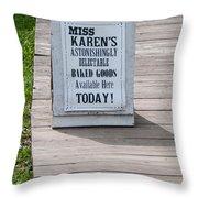 Miss Karen's Throw Pillow