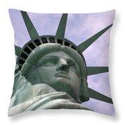 Miss Liberty Throw Pillow