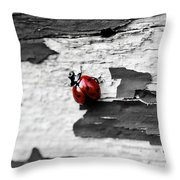 Miss Red Throw Pillow