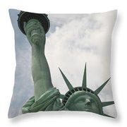 Miss Statue Of Liberty Throw Pillow