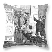 Missing The Streetcar Throw Pillow