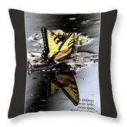 Missing You - Butterfly Throw Pillow