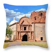 Mission At Tumacacori Throw Pillow