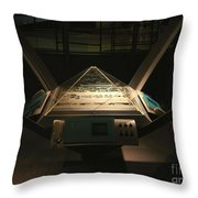 Mission Control Center Throw Pillow
