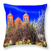 Mission In Silver City Nm Throw Pillow