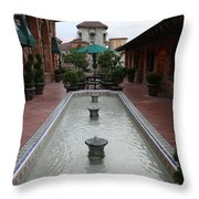 Mission Inn Roof Top Pond Throw Pillow