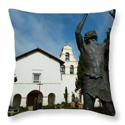 Mission San Juan Bautista Throw Pillow by Jeff Lowe