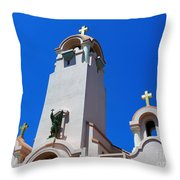 Mission San Rafael Arcangel Throw Pillow by Methune Hively