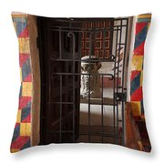 Mission San Xavier Del Bac - Inner Sanctuary Throw Pillow