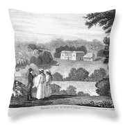 Missionary College, 1837 Throw Pillow