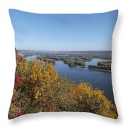 Mississippi River Fall Throw Pillow