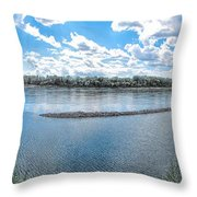 Mississippi River Panorama Throw Pillow