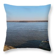 Mississippi River View Throw Pillow