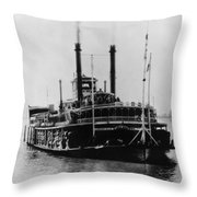 Mississippi Steamboat, 1926 Throw Pillow
