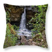 Missouri Waterfall Throw Pillow