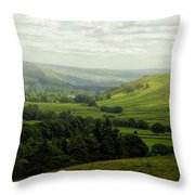 Mist In The Dale Throw Pillow