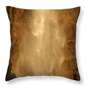 Mist Over The Rocks Throw Pillow