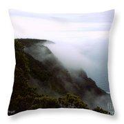 Mists Along The Kalalau Valley Throw Pillow