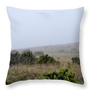 Mists Between The Hills Throw Pillow