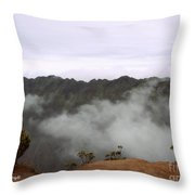 Mists From The Kalalau Valley Throw Pillow