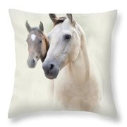 Misty Throw Pillow by Betty LaRue