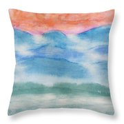 Misty Morning On Blue Hills Throw Pillow