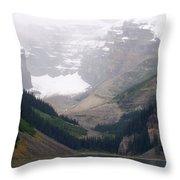 Misty Paddle - Lake Louise, Alberta Throw Pillow