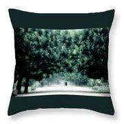 Misty Parisian Park 2 Throw Pillow
