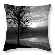 Misty Reflections Bw Throw Pillow
