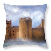 Misty Romantic Scotland Throw Pillow