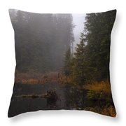 Misty Solitude Throw Pillow