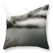 Misty Tendrils Throw Pillow