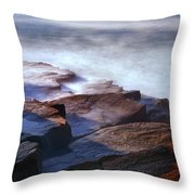 Misty Tide At Monument Cove Throw Pillow