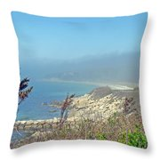Misty View From Nobska Point - Woods Hole Ma Throw Pillow