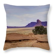 Mitchell Butte From Mystery Valley Throw Pillow