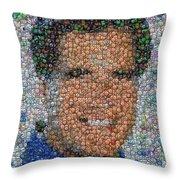 Mitt Romny President Button Mosaic Throw Pillow