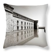 Moat Around Fort Delaware Throw Pillow