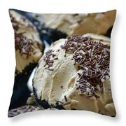 Mocha With Sprinkles Throw Pillow