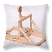 Model Catapult Throw Pillow
